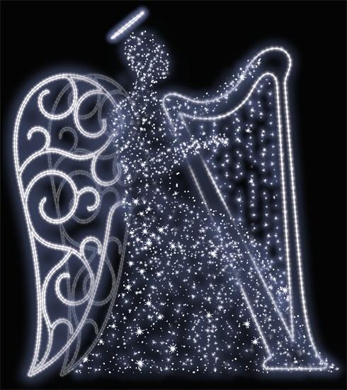 anioł 4/ z harfą